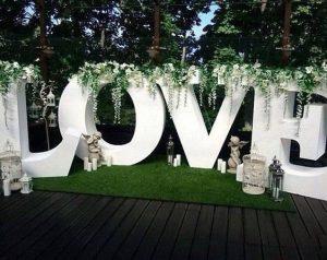 Love large polystyrene letters